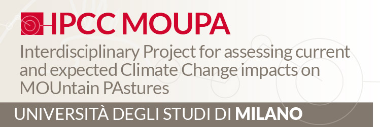 Progetto AGER - AGRICOLTURA DI MONTAGNA - Interdisciplinary Project for assessing current and expected Climate Change impacts on MOUntain PAstures (IPCC MOUPA)